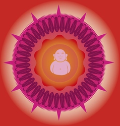 power budda mandala vector image