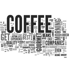what happened to coffee text word cloud concept vector image vector image