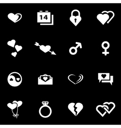 white love icon set vector image vector image