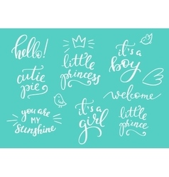 Baby photography family overlay set vector image