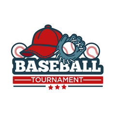 baseball tournament icon template of player vector image