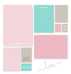 Collection of romantic paper design for Valentines vector image vector image