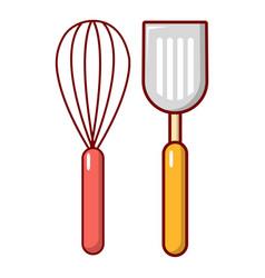 cutlery bake icon cartoon style vector image