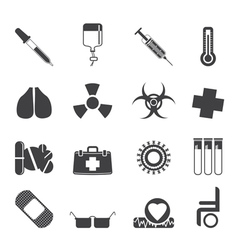 medical themed icons and warning-signs vector image vector image
