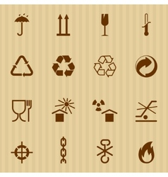 Packing and logistic icons vector image