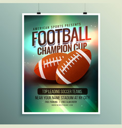 Rugby championship cup flyer template vector