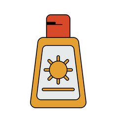 Sunscreen or sunblock icon image vector