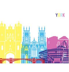 york skyline pop vector image vector image