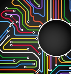 Abstract background of color metro lines vector image