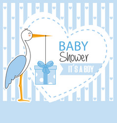 boy baby shower vector image