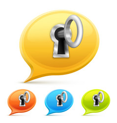key for a chat set vector image vector image