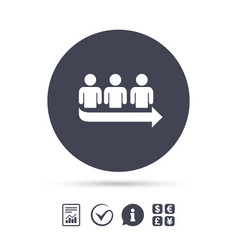 queue sign icon long turn symbol vector image vector image