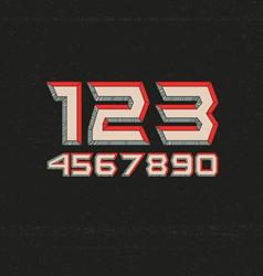 80s Retro Futuristic Numbers vector image vector image