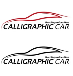 Calligraphic car logos vector image vector image