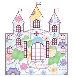 castle gradient vector image