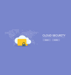 cloud security banner concept vector image