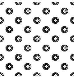 coin with clover sign pattern vector image vector image