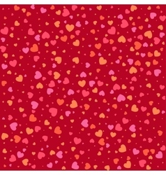 Seamless pattern with colorful hearts background vector image