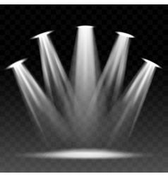 Searchlight illuminated scene vector