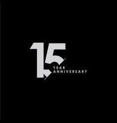 15 years anniversary template design vector