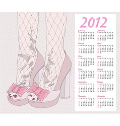 2012 fashion calendar vector image