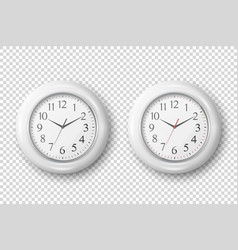 3d realistic simple round white wall office vector image