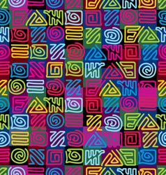 afrikan pattern vector image