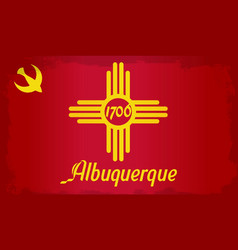 Albuquerque city flag vector
