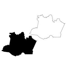 Amazonas brazilian state map vector