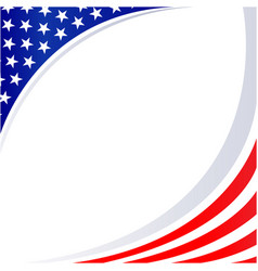 american abstract flag patriotic corner frame vector image