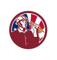 American lineman usa flag icon vector