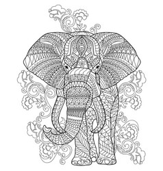 animal coloring page vector image