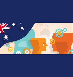 australia concept of thinking growing innovation vector image