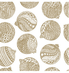 beautiful monochrome white and gold pattern vector image