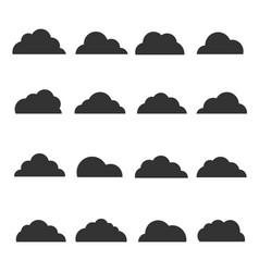 black cloud silhouette vector image
