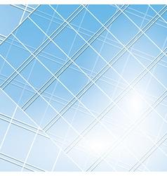 blue windows on modern buildings vector image