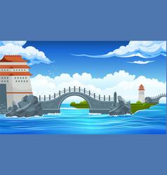Bridges landscape composition vector