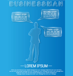 businessman glass vector image