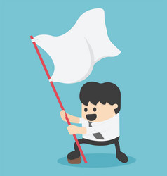 Businessman holding a flag waving vector