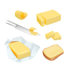 Butter calorie product margarine or milk butter vector