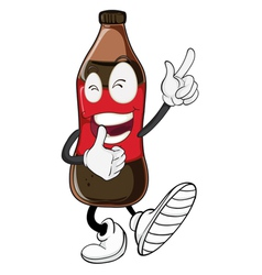 Cartoon Soda Pop Bottle vector image