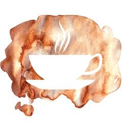 cofee watercolor vector image