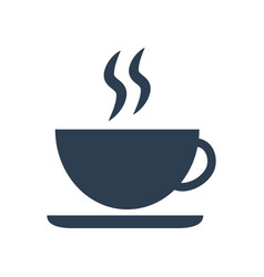Coffee cup icon on white background vector