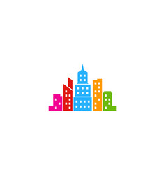 color town logo icon design vector image