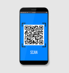 creative of phone mobile qr vector image