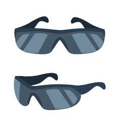 cyclists glasses collection vector image