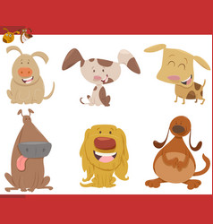 dog animal characters set vector image