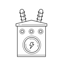 Electricity distribution line icon vector