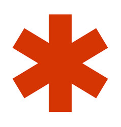 Emergency star - medical symbol icon flat isolated vector