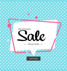 end of season special offer blue background vector image
